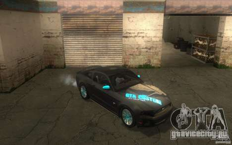 Ford Mustang GT V6 2011 для GTA San Andreas вид сбоку
