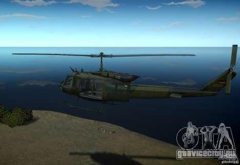 Bell UH-1D German Bundeswehr для GTA 4 вид слева