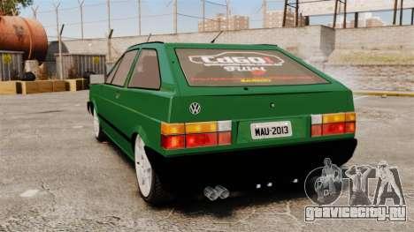Volkswagen Gol GL 1992 Edit для GTA 4 вид сзади слева