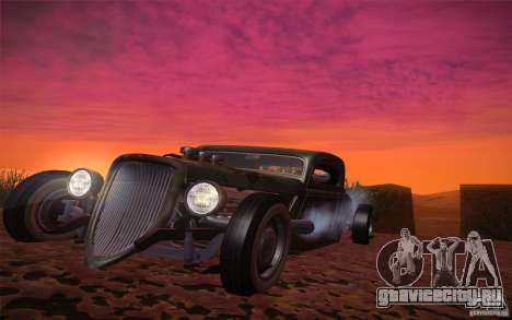 Ford Ratrod 1934 для GTA San Andreas вид сзади