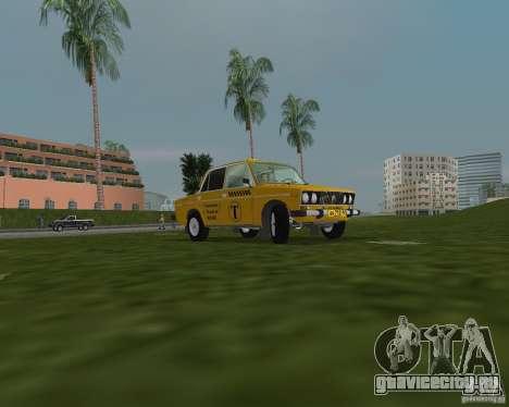 Ваз 2106 Такси для GTA Vice City вид сзади слева