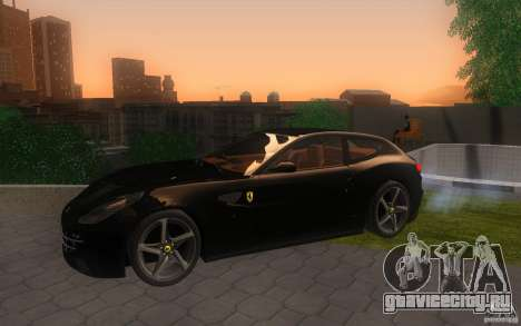 Ferrari FF для GTA San Andreas вид сзади
