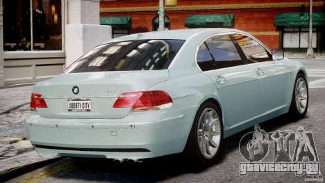 BMW 7 Series E66 для GTA 4 вид справа