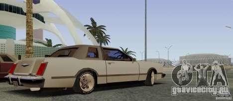 Virgo Continental для GTA San Andreas вид сзади