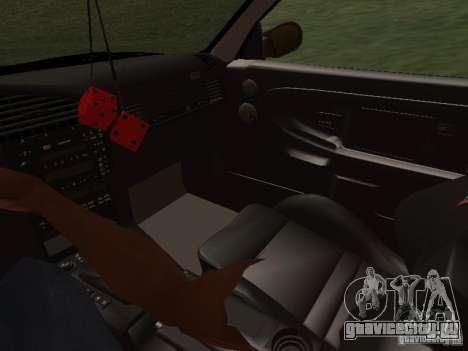BMW E36 Drift для GTA San Andreas вид сверху