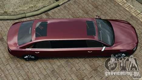 Audi A8 Limo v1.2 для GTA 4 вид справа