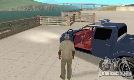 Toyota Hilux Somaliland Police для GTA San Andreas вид сзади