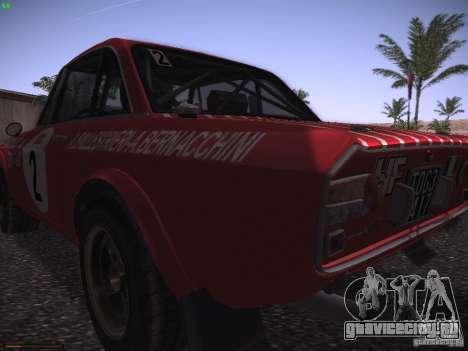Lancia Fulvia Rally Marlboro для GTA San Andreas вид сзади