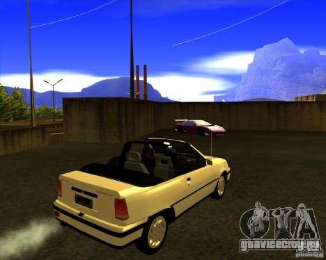 Chevrolet Kadett GSI 2.0 Conversivel (1991-1995) для GTA San Andreas вид сзади слева