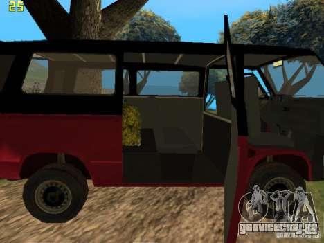 Volkswagen Transporter T3 для GTA San Andreas вид сзади