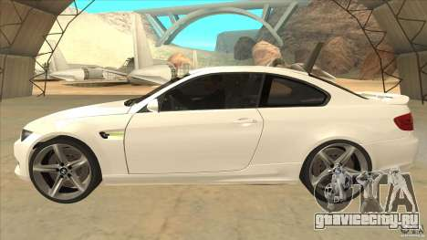 BMW 335i Coupe 2011 для GTA San Andreas вид слева