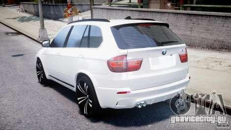BMW X5M Chrome для GTA 4 вид сзади слева