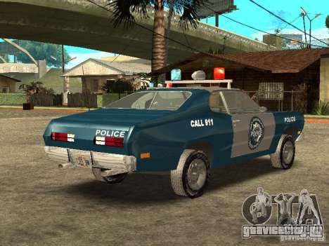 Plymout Duster 340 POLICE v2 для GTA San Andreas вид справа