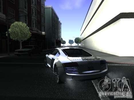 Audi R8 для GTA San Andreas вид слева