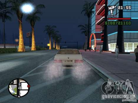 Maserati Ghibli для GTA San Andreas вид сзади слева
