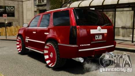 Cadillac Escalade 2011 DUB для GTA 4 вид сзади слева