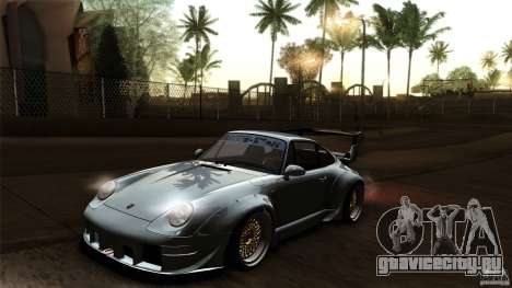 Porsche 993 RWB для GTA San Andreas вид сверху