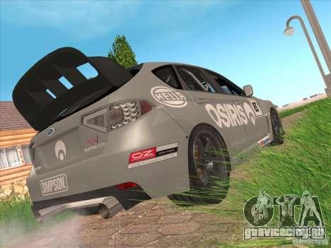 Subaru Impreza WRX STI N14 Gymkhana для GTA San Andreas вид снизу
