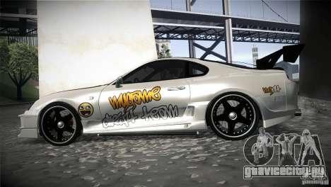 Toyota Supra MyGame Drift Team для GTA San Andreas вид слева