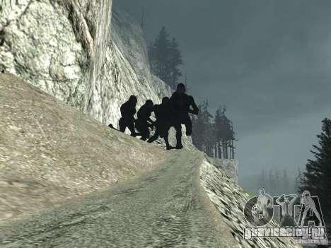 Mt. Chiliad Creature для GTA San Andreas третий скриншот