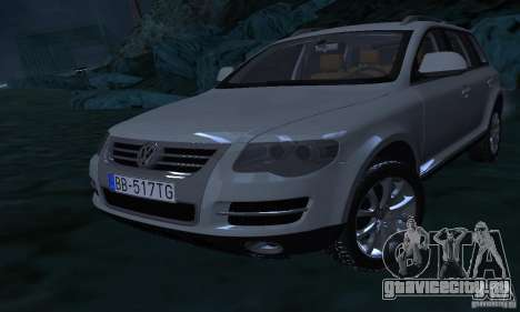 Volkswagen Touareg для GTA San Andreas вид сверху