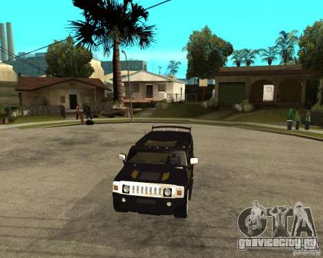 H2 HUMMER DUB LOWRIDE для GTA San Andreas вид сзади
