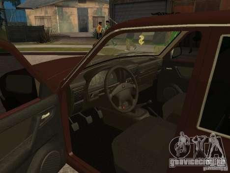 ГАЗ 311055 для GTA San Andreas вид изнутри