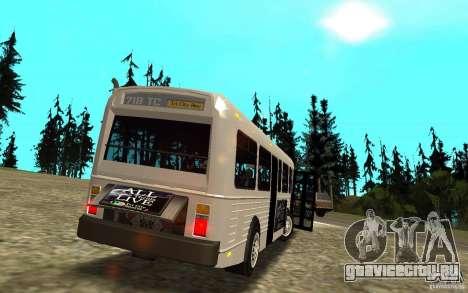 NFS Undercover Bus для GTA San Andreas вид сбоку