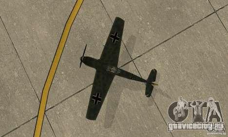 Bf-109 для GTA San Andreas вид сзади