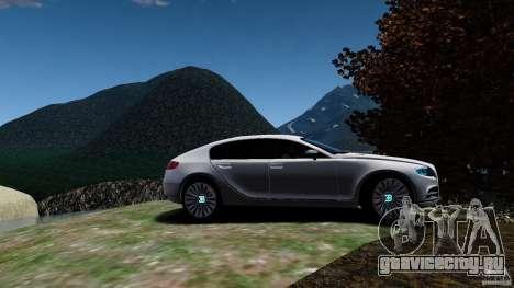 Bugatti Galibier 2009 для GTA 4 вид сзади