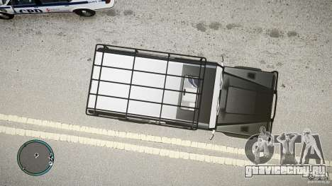 Land Rover Defender для GTA 4 вид сзади