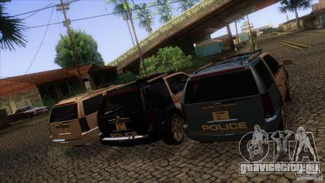 Cadillac Escalade 2007 Cop Car для GTA San Andreas вид сверху