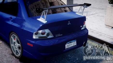 Mitsubishi Lancer Evolution VIII для GTA 4 колёса