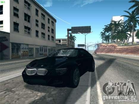 BMW M6 2010 Coupe для GTA San Andreas вид изнутри