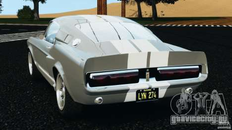 Shelby GT 500 Eleanor v2.0 для GTA 4 вид сзади слева