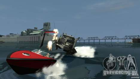 Biff boat для GTA 4 вид изнутри