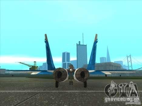 MiG-29 Стрижи для GTA San Andreas вид сзади слева