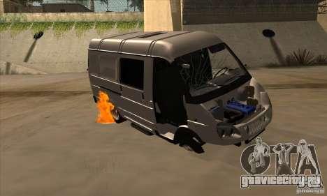 ГАЗель 2705 Грузо Пассажирская для GTA San Andreas вид снизу