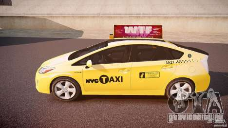 Toyota Prius NYC Taxi 2011 для GTA 4 вид слева