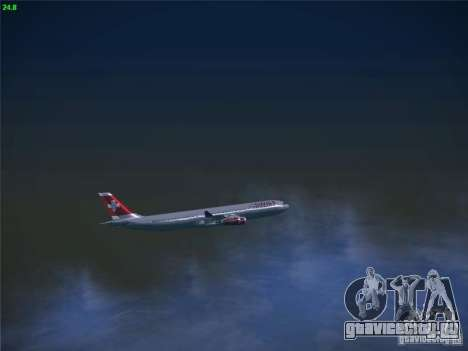 Airbus A340-300 Swiss International Airlines для GTA San Andreas вид сбоку