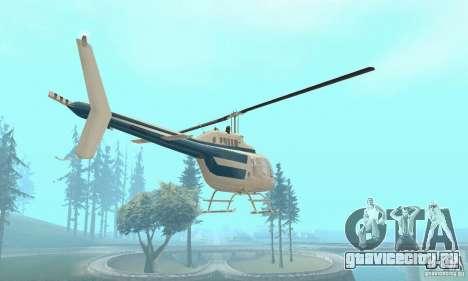 Bell 206B JetRanger II для GTA San Andreas вид сзади