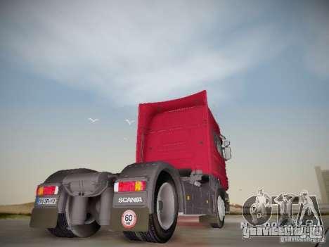 Scania R580 Topline для GTA San Andreas вид справа