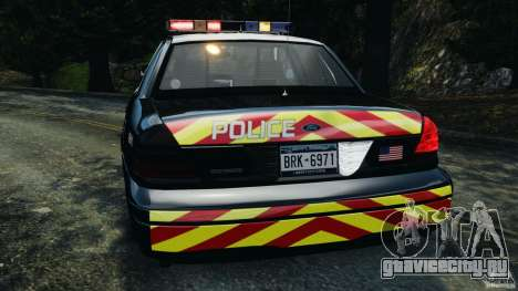 Ford Crown Victoria Police Interceptor 2003 LCPD для GTA 4 вид снизу