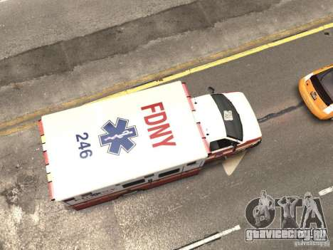 Chevrolet Ambulance FDNY v1.3 для GTA 4 вид сверху
