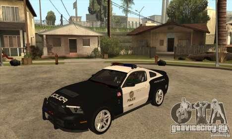 Shelby GT500 2010 Police для GTA San Andreas