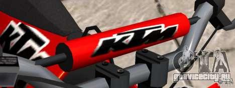 KTM EXC 450 для GTA 4 вид справа