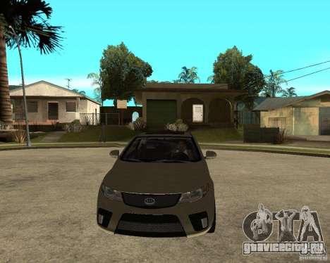 KIA Forte Coup для GTA San Andreas вид сзади
