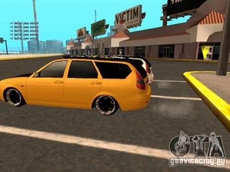 Лада Приора Хетчбэк для GTA San Andreas вид сбоку