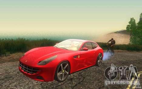 Ferrari FF для GTA San Andreas вид изнутри