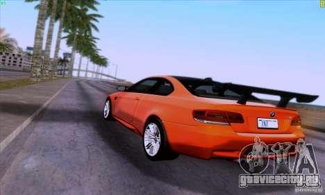 BMW M3 E92 v1.0 для GTA San Andreas вид сбоку